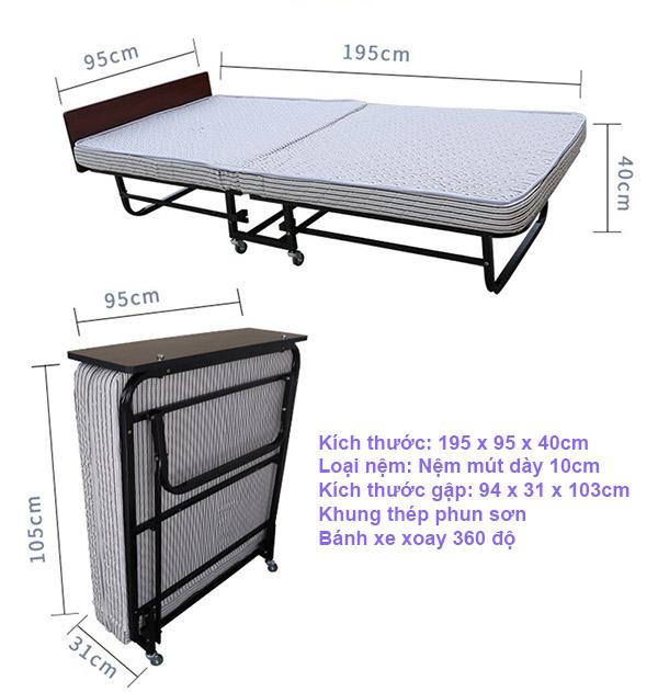 Mẫu giường extra bed bán chạy nhất của Poliva, được nhiều khách sạn lựa chọn