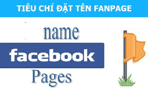 Khi đặt tên Fanpage kinh doanh trên Facebook cần chú ý một vài điều