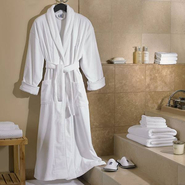 làm mềm áo choàng tắm cotton