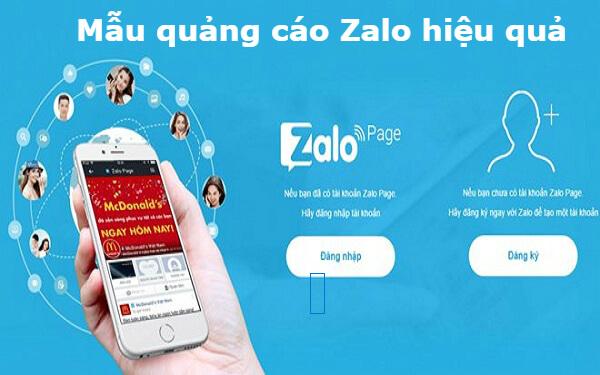 Mẫu quảng cáo Zalo tăng khả năng thu hút khách hàng hiệu quả