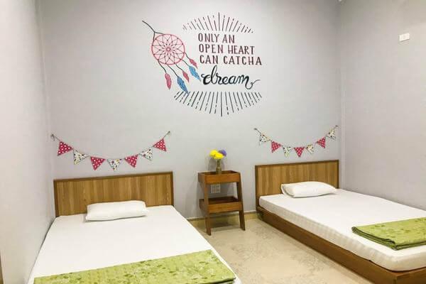 Phòng giường đôi, giường đơn tại homestay