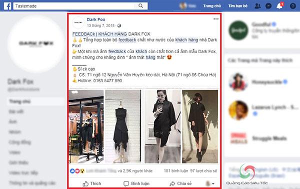 Đăng ảnh feedback giúp việc bán hàng suôn sẻ hơn