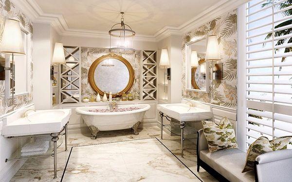 Họa tiết trang trí phòng tắm được tô điểm sinh động