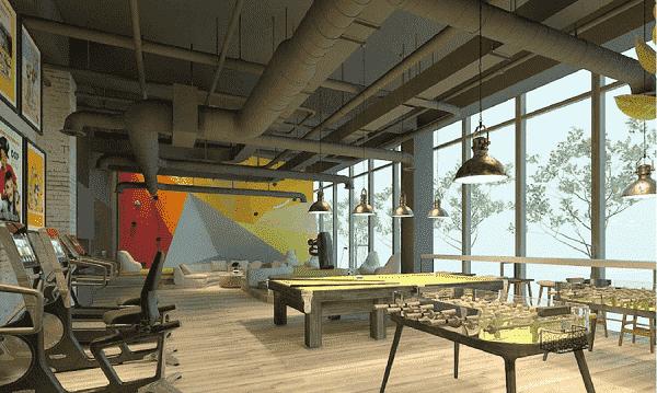 Phòng được thiết kế với những gam màu sáng tạo cảm giác thoải mái cho khách trong phòng