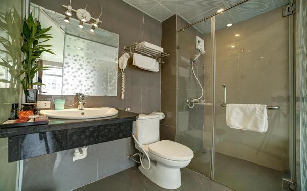 Cây cảnh trang trí phòng tắm trở nên tươi mới hơn