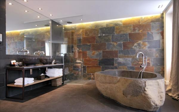 Thiết kế nội thất bằng đá tư nhiên trong không gian thoáng đãng