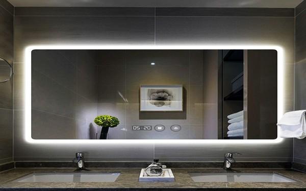 Gương đèn led hiện đại làm cho không gian phòng tắm trở nên lung linh
