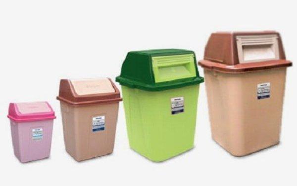 Mẫu thùng rác nhựa có nắp tiện lợi đa kích cỡ
