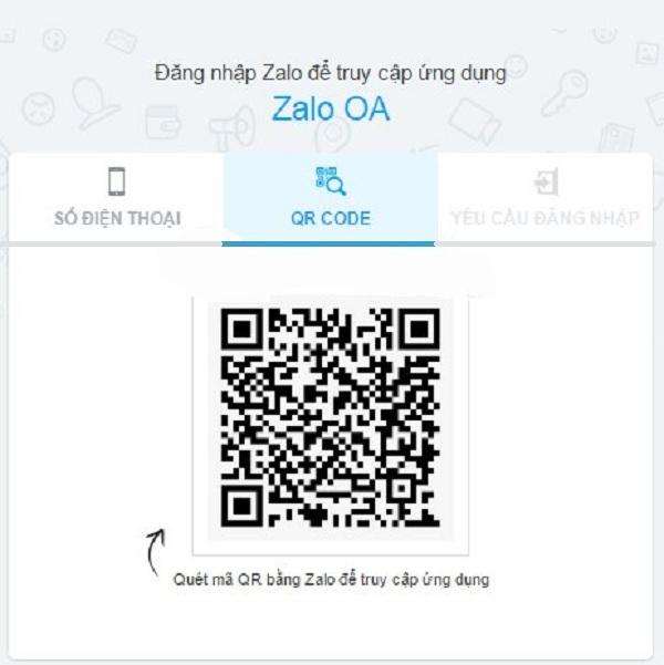 Có thể quét mã QR để tạo Official Account trên Zalo