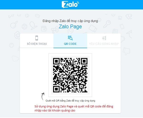 Sử dụng mã QR để đăng nhập dễ dàng và nhanh chóng