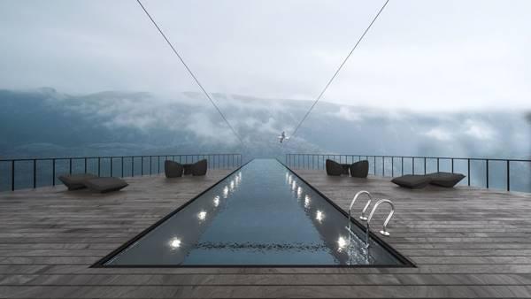 thiết kế hồ bơi sân thượng khách sạn
