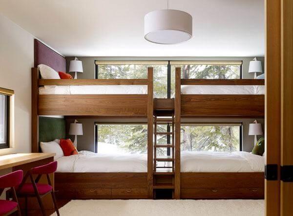 Mẫu giường tầng bằng gỗ chắc chắn