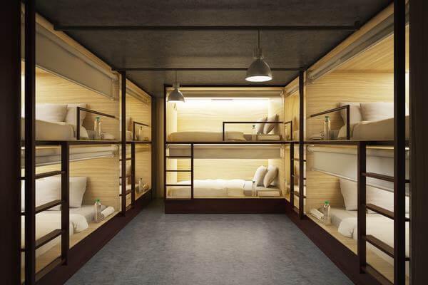 Giường tầng trong các homestay được thiết kế hiện đại