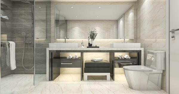 Phòng vệ sinh với các thiết bị cao cấp
