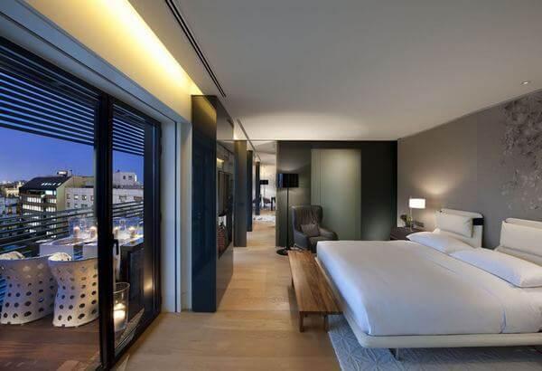 Phòng ngủ khách sạn hiện đại