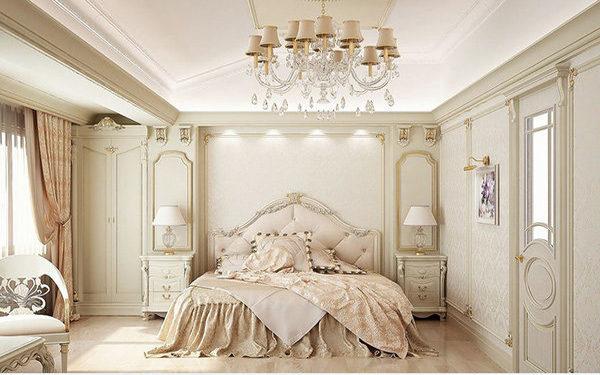 Màu sắc tinh tế làm nổi bật vẻ đẹp hoàng gia của phòng ngủ Pháp