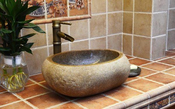 Lavabo bằng đá tự nhiên được nhiều khách hàng ưa chuộng sử dụng
