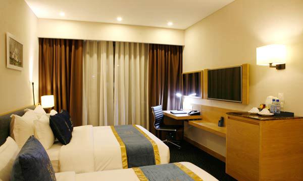 Rèm vải 2 lớp thường được nhiều khách sạn lựa chọn sử dụng