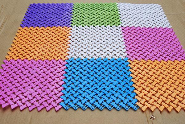Thảm ghép miếng rực rỡ màu sắc