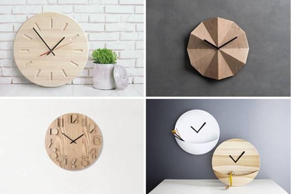 Những mẫu đồng hồ bằng gỗ đơn giản nhưng không kém phần tinh tế, lạ mắt, chắc chắn sẽ khiến khách hàng vô cùng thích thú