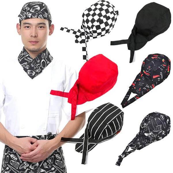 Các loại mũ đầu bếp rất đa dạng