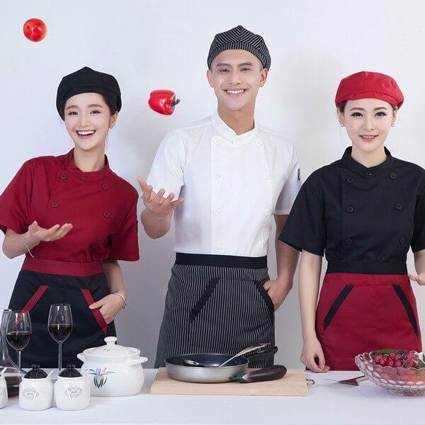 Những màu sắc kết hợp tạo nên trang phục đầu bếp nổi bật, thời trang và chuyên nghiệp
