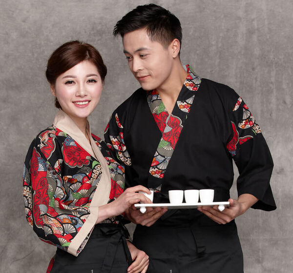 Đồng phục bếp Nhật với các họa tiết đặc trưng