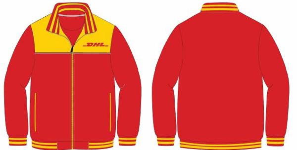 Mẫu thiết kế áo khoác đồng phục màu đỏ nổi bật