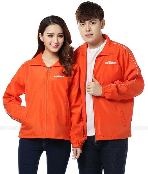 Áo khoác đồng phục màu cam