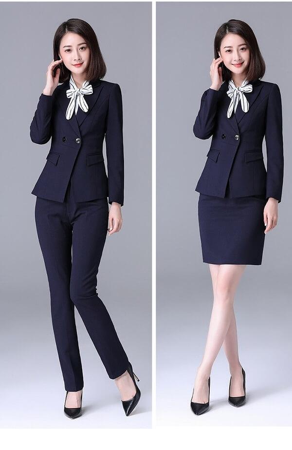 Áo vest nữ kết hợp chân váy hoặc quần âu rất thanh lịch