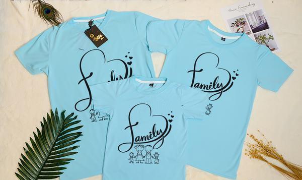 Đồng phục family đơn giản nhưng độc đáo