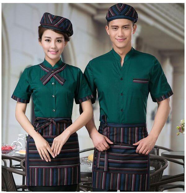 Kiểu dáng đồng phục của nhân viên phục vụ đa dạng, thời trang