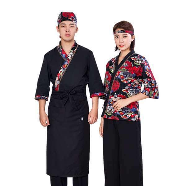 Vải may đồng phục nhà hàng Nhật nhẹ nhàng, chất lượng cao