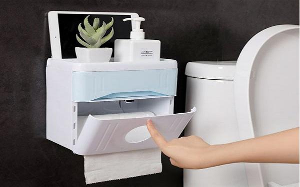 Khách hàng có thể đặt những đồ dùng cá nhân lên kệ của hộp đựng giấy Ecoco