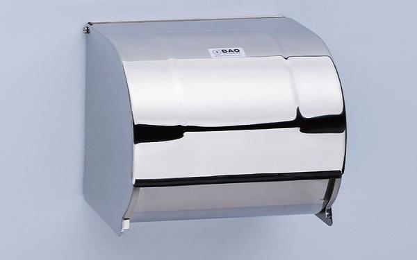 Khách sạn nên dùng hộp đựng giấy vệ sinh inox hay loại hộp nhựa?