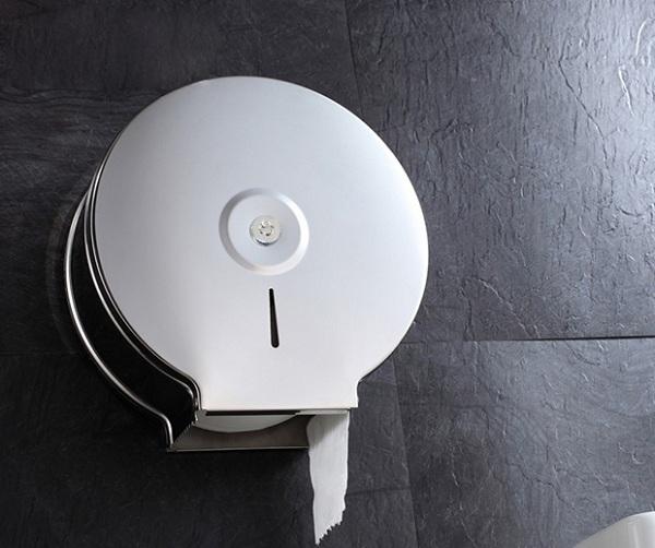 Hộp đựng giấy vệ sinh inox cỡ lớn rất phù hợp với khách sạn, nhà hàng