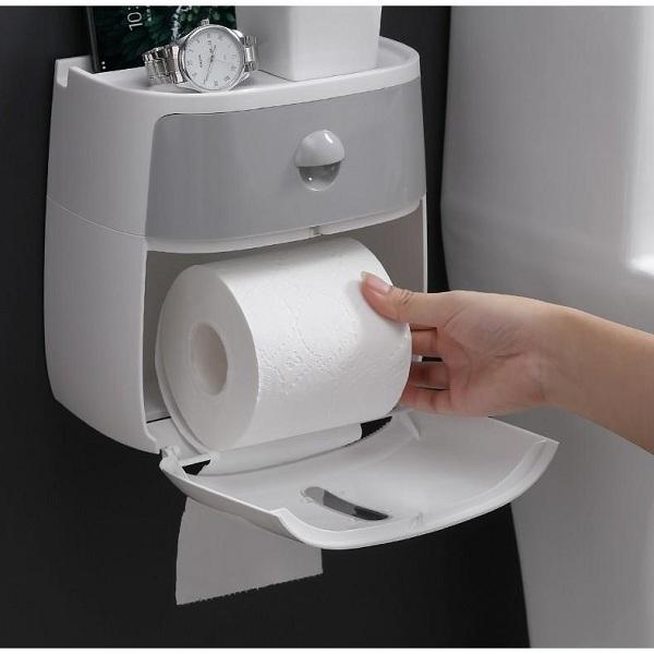 Hộp đựng giấy vệ sinh toilet là một trang thiết bị không thể thiếu trong mọi khách sạn