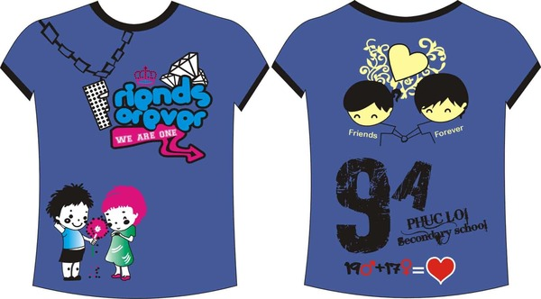 Các mẫu thiết kế để in áo theo yêu cầu của các bạn học sinh