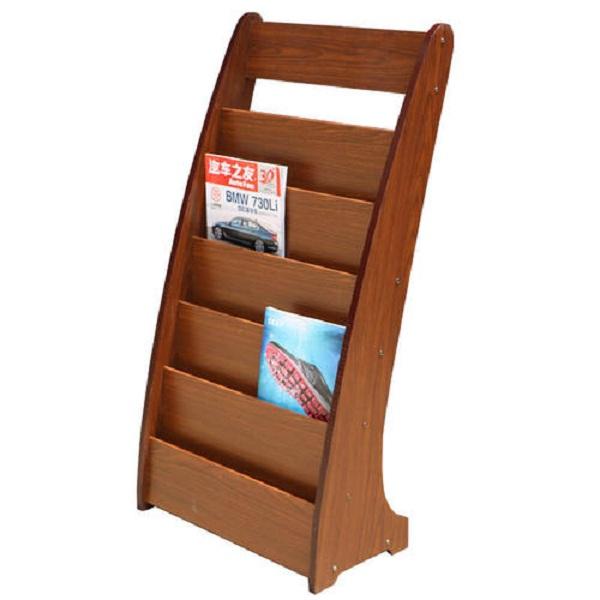 Băn khoăn nên chọn mua kệ để sách báo bằng gỗ hay inox?