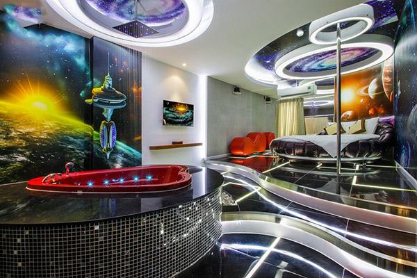 Mỗi phòng mang một phong cách thiết kế khác nhau