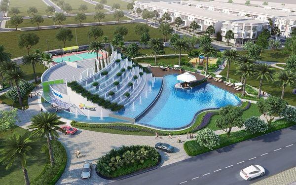 Thiết kế cảnh quan đẹp mắt tạo không gian hồ bơi đẳng cấp