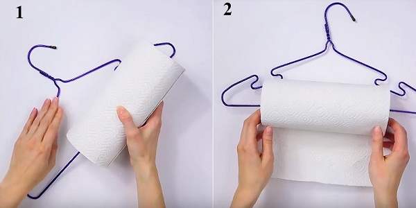 Nhẹ nhàng luồn cuộn giấy vệ sinh vào như trong hình minh họa