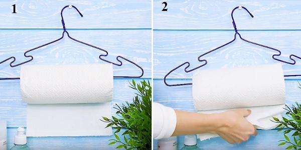 Đóng một chiếc vít vào vị trí cần treo, móc chiếc móc đựng giấy vệ sinh lên là đã có thể sử dụng rồi