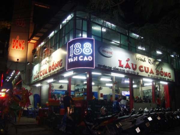 Quán Minh Quỳnh nằm ở 188 Văn Cao khá gần mặt đường