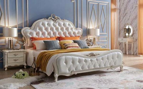 Mẫu giường cổ điển được làm từ chất liệu da cao cấp