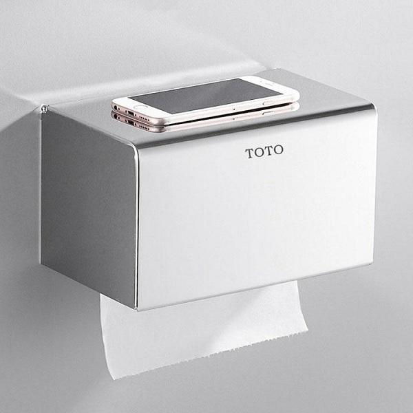 Chất liệu inox đảm bảo được sự chắc chắn cũng như tuổi thọ của hộp giấy vệ sinh
