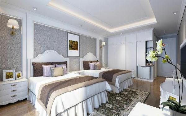 Phòng ngủ khách sạn với kiến trúc tân cổ điển tinh tế