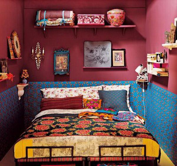 Những tông màu đậm, nổi bật thỏa sức khoe sắc trong phong cách Bohemian.