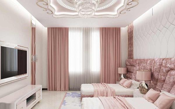 Rèm một màu – Loại rèm cửa khách sạn đẹp sang tiêu chuẩn 4-5 sao