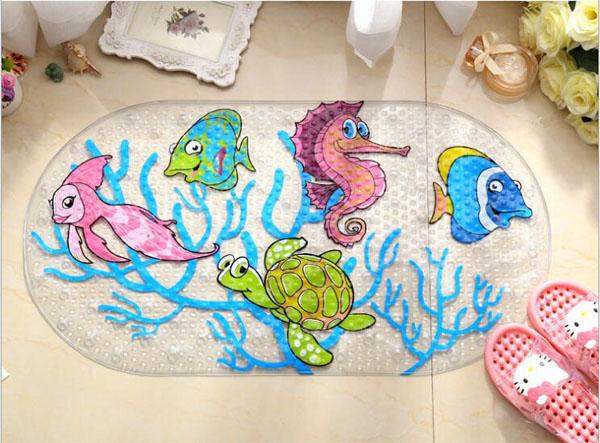 Những tấm thảm chống trơn nhà tắm cho bé với công dụng tuyệt vời và hình ảnh thú vị